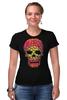 """Футболка Стрэйч (Женская) """"Черепа"""" - skull, череп, кости"""