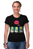 "Футболка Стрэйч ""Homer Simpson & Donut"" - симпсоны, гомер симпсон, the simpsons, donut"