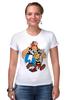 "Футболка Стрэйч ""Астерикс и Обеликс"" - комикс, мульт, астерикс и обеликс, галл, астерикс, обеликс"