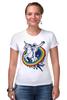 """Футболка Стрэйч (Женская) """"Космонавт"""" - space, unicorn, единорог, космонавт"""