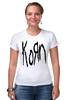 """Футболка Стрэйч (Женская) """"Korn (KoЯn)"""" - korn, ню-метал"""