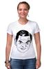 "Футболка Стрэйч (Женская) ""футболка ""Мистер Бин"""" - прикол, портрет, мистер бин"