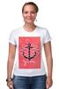 """Футболка Стрэйч (Женская) """"Je t'aime"""" - любовь, море, якорь, anchor"""
