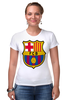 """Футболка Стрэйч (Женская) """"BARCA"""" - barcelona, барселона, fcb"""