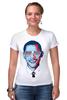 """Футболка Стрэйч (Женская) """"Барак Обама"""" - арт, usa, сша, президент, president, barack obama"""