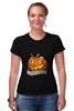 "Футболка Стрэйч (Женская) ""Helloween"" - хэллоуин, helloween"