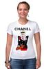 "Футболка Стрэйч (Женская) ""Chanel"" - прикол, юмор, духи, бренд, fashion, коко шанель, brand, coco chanel, шанель, perfume"
