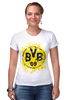 "Футболка Стрэйч (Женская) ""боруссия дортмунд"" - логотип, германия, боруссия, дортмунд"