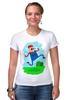 """Футболка Стрэйч (Женская) """"Марио (Mario)"""" - nintendo, mario, марио, грибочек"""