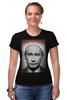 "Футболка Стрэйч (Женская) ""Путин"" - путин, putin, mr president"