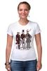 """Футболка Стрэйч (Женская) """"Джентльмены"""" - арт, животные, дизайн, джентльмены"""