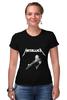 "Футболка Стрэйч ""Metallica"" - rock, metallica, металлика, джеймс хэтфилд, легенды рока"