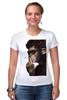 """Футболка Стрэйч (Женская) """"Обезьяна курильщик"""" - животные, обезьяна, monkey, не курить"""