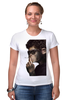 "Футболка Стрэйч ""Обезьяна курильщик"" - животные, обезьяна, monkey, не курить"