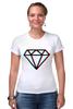 "Футболка Стрэйч (Женская) ""Стерео Бриллиант"" - style, подарок, swag, стерео, бриллиант, diamond"