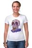 "Футболка Стрэйч (Женская) ""Zombie art"" - skull, череп, zombie, зомби, арт дизайн"