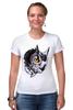 """Футболка Стрэйч (Женская) """"Owl Gray"""" - взгляд, сова, филин, owl"""