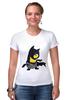 "Футболка Стрэйч (Женская) ""Бэтмен "" - мультик, batman, бэтмен, миньоны"