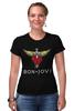 "Футболка Стрэйч (Женская) ""Bon Jovi"" - bon jovi, бон джови"