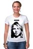 """Футболка Стрэйч (Женская) """"Nirvana"""" - grunge, kurt cobain, кобейн"""