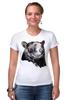 """Футболка Стрэйч (Женская) """"Медведь"""" - bear, медведь"""