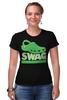 """Футболка Стрэйч (Женская) """"Swag (Свэг)"""" - swag, свэг"""