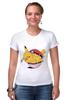 """Футболка Стрэйч (Женская) """"Fat Pikachu"""" - pokemon, покемон, пикачу, обжорство"""