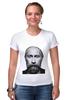 """Футболка Стрэйч (Женская) """"Путин с бородой"""" - путин, борода, putin"""