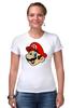 "Футболка Стрэйч (Женская) ""Марио (Mario)"" - nintendo, mario, mario bros, братья марио"