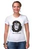 "Футболка Стрэйч (Женская) ""Viva La Evolution"" - обезьяна, че гевара, куба, эволюция, che guevara"