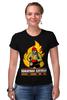 """Футболка Стрэйч """"""""Пожарная служба"""" - оригинальная коллекция"""" - стиль, работа, актуально, россия, подарок, hero, апрель, рубль, мода 2014, коллекция"""