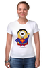 "Футболка Стрэйч (Женская) ""Миньоны"" - супермен, superman, миньоны, minion, minions"