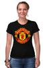 """Футболка Стрэйч """"Manchester United """" - манчестер юнайтед, mu, manchester united, красные дьяволы, мю"""