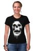 """Футболка Стрэйч (Женская) """"Череп"""" - skull, череп, кости"""