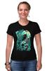 "Футболка Стрэйч ""Art Horror"" - skull, череп, crow, ворон, тьма"