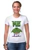 """Футболка Стрэйч (Женская) """"Невероятный Мопс"""" - pug, hulk, мопс, халк, невероятный мопс"""