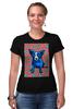 """Футболка Стрэйч (Женская) """"Синий Пес"""" - сердце, любовь, собака, синий пес, blue dog"""