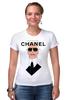"""Футболка Стрэйч (Женская) """"Chanel"""" - fashion, шанель, karl lagerfeld, карл лагерфельд"""