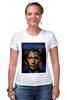 "Футболка Стрэйч (Женская) ""Путин vs Обама"" - америка, россия, обама, путин, президент"