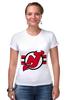 "Футболка Стрэйч (Женская) ""New Jersey Devils"" - хоккей, nhl, нхл, нью-джерси девилс, new jersey devils"