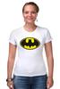 "Футболка Стрэйч (Женская) ""Бэтман"" - batman, супергерой, бэтман"