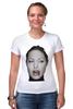 """Футболка Стрэйч (Женская) """"Angelina Jolie"""" - angelina jolie, анджелина джоли"""