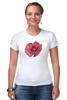 """Футболка Стрэйч (Женская) """"Стилизованный  винтажный арт-цветок"""" - арт, авторские майки, цветы, узор, стиль, flower, рисунок, винтаж, мак, poppy"""