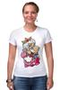 """Футболка Стрэйч (Женская) """"Mario (Princess Peach)"""" - платье, марио, mario bros, принцесса пич"""