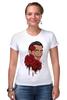 """Футболка Стрэйч (Женская) """"Сальвадор Дали и розы."""" - арт, сюрреализм, roses, salvador dali, surrealism, artist"""