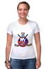 """Футболка Стрэйч (Женская) """"Нью-Йорк Айлендерс """" - хоккей, nhl, нхл, нью-йорк айлендерс, new york islanders"""