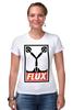 """Футболка Стрэйч (Женская) """"Flux Capacitor (Назад в Будущее)"""" - назад в будущее, obey, back to the future, flux capacitor"""