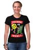 """Футболка Стрэйч (Женская) """"Pacman x Money"""" - деньги, pacman, money, мэнни пакьяо"""