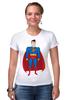 """Футболка Стрэйч (Женская) """"Супермен (Superman)"""" - супермен, superman, супергерой, dc"""