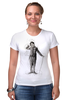 "Футболка Стрэйч (Женская) ""Charlie Chaplin"" - комик, charlie chaplin, чарли чаплин, актёр, чарльз спенсер чаплин"